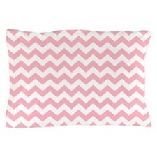 Petal Pink Chevrons Pillow Case