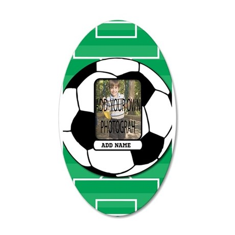 Photo and Name personalized soccer ball Wall Decal