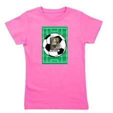 Photo and Name personalized soccer ball Girl's Tee