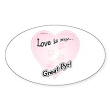 Pyr Love Is Oval Decal