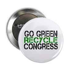 "Go Green Recycle Congress 2.25"" Button (100 pack)"