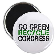 "Go Green Recycle Congress 2.25"" Magnet (10 pack)"