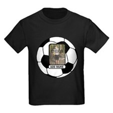 Photo and Name personalized soccer ball T-Shirt