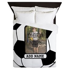 Photo and Name personalized soccer ball Queen Duve