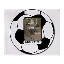 Photo and Name personalized soccer ball Throw Blan