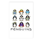 Nine Penguins Postcards (Package of 8)