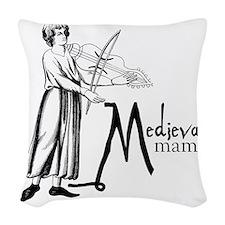 medieval Mama Woven Throw Pillow
