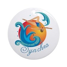 Synchronized swimming Ornament (Round)