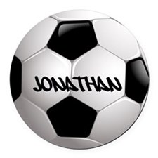 Customizable Soccer Ball Round Car Magnet