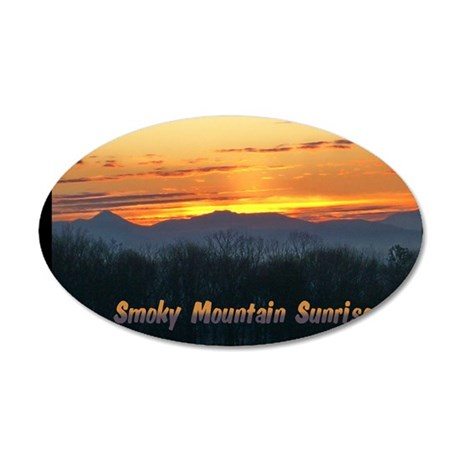 Smoky Mountain Post Card Fro 35x21 Oval Wall Decal