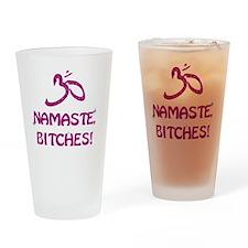 Namaste Bitches - Purple Glitter Ef Drinking Glass
