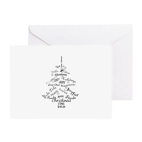 Christmas Word Tree Greeting Card