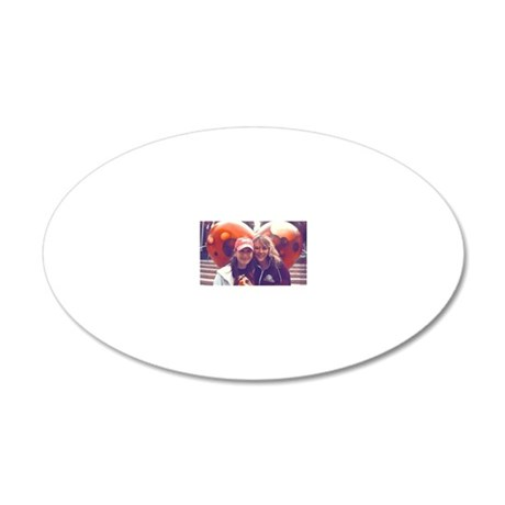 Jolie and Shelley 20x12 Oval Wall Decal