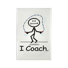 Jump Roping Coach Rectangle Magnet (100 pack)