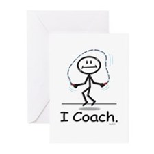 Jump Roping Coach Greeting Cards (Pk of 10)