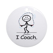 Jump Roping Coach Ornament (Round)