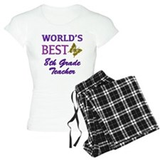 World's Best 8th Grade Teacher Pajamas