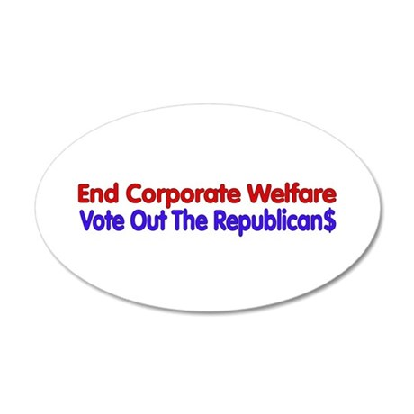 End Corporate Welfare Wall Decal