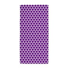 Purple Cross Pattern Beach Towel
