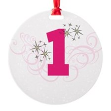 Pink Custom number birthday Ornament