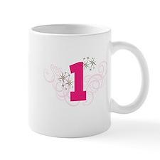 Pink Custom number birthday Mugs