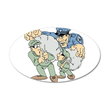 Cops and Robbers Wall Decal