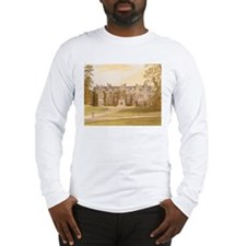 Wroxton Abbey covered in ivy. Long Sleeve T-Shirt