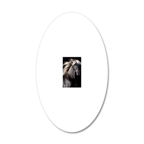 choco_horse_panel 20x12 Oval Wall Decal