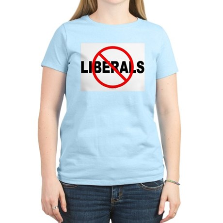 No Liberals Women's Pink T-Shirt