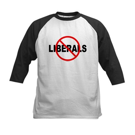 No Liberals Kids Baseball Jersey