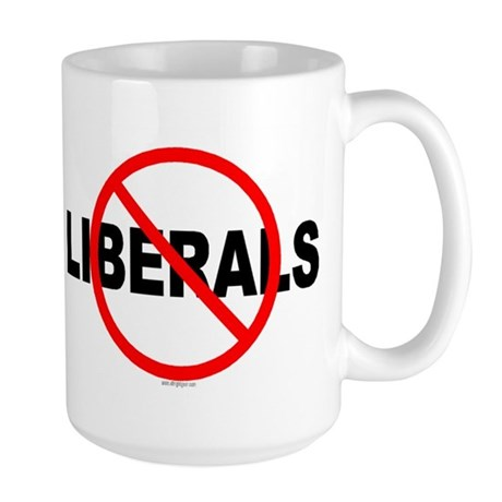 No Liberals Large Mug