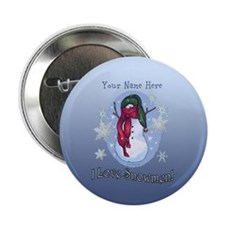 I Love Snowmen! 2.25&Quot; Button (10 Pack)