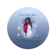 I Love Snowmen! 3.5&Quot; Button (100 Pack)