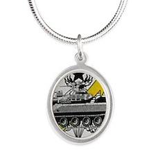 thunderbolttank Silver Oval Necklace