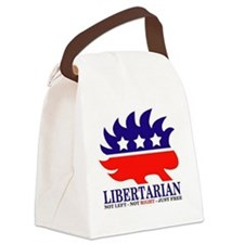 Libertarian Porcupine Canvas Lunch Bag