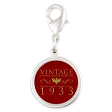 Vintage 1933 (Red) Silver Round Charm