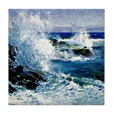 The Sea View of Cliffs-Guy Rose paint Tile Coaster