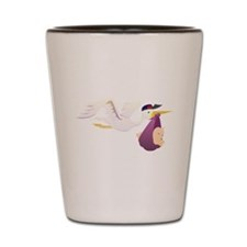 Stork Carrying Baby Shot Glass