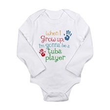 Future Tuba Player Long Sleeve Infant Bodysuit