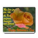 Long stem roses Mousepad
