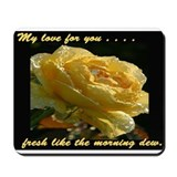 Funny Long stem roses Mousepad