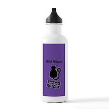 Cat Lady Purple Water Bottle