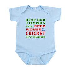 Beer Women and Cricket Infant Bodysuit