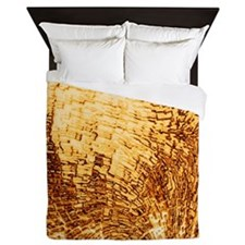 structure metallic golden Queen Duvet