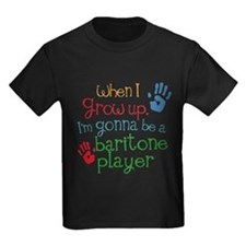 Future Baritone Player Kids Dark T-Shirt