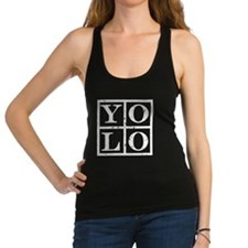 Yolo Black Racerback Tank Top
