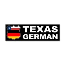 Texas German American Car Magnet 10 x 3