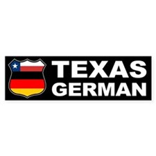 Texas German American Bumper Bumper Sticker