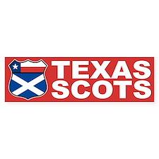 Texas Scottish American Bumper Bumper Sticker