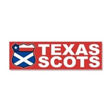 Texas Scottish American Car Magnet 10 x 3